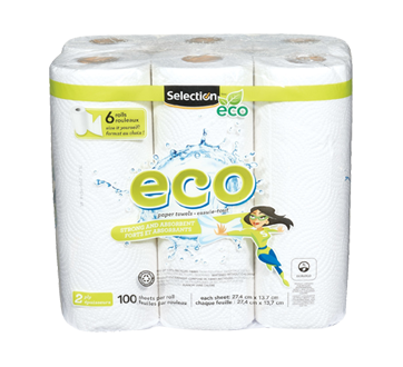 Selection Eco Paper Towell, 6 units