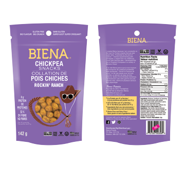 Chickpea Snacks, 142 g, Rickin' Ranch