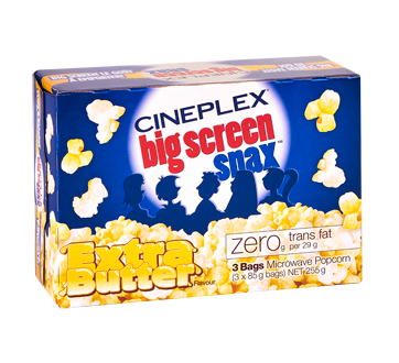 Microwave Popcorn, Extra Butter, 255 g