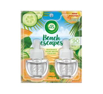 Beach escapes Scented Oil Refills, 2 X 20 ml, Aruba Melon