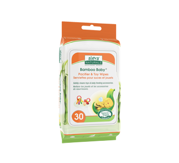 Bamboo Baby Pacifier & Toy Wipes, 30 units