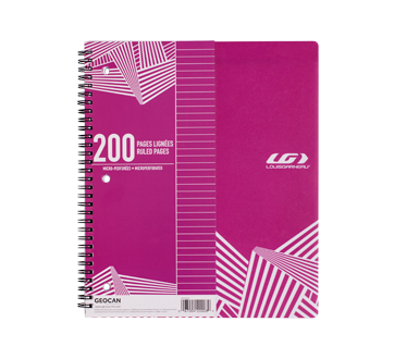 Spiral Notebook 200 pages, 1 unit, Pink