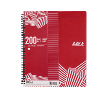 Spiral Notebook 200 pages, 1 unit, Red