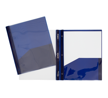Plastic Portfolio with Clear Cover, 1 unit, Navy