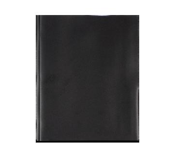 Plastic Portfolio with Pockets, 1 unit, Black