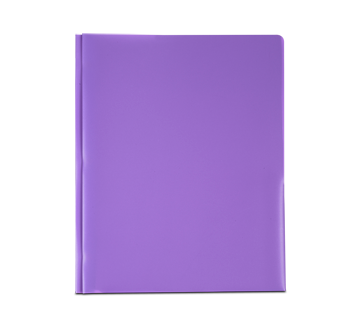 Plastic Portfolio with Pockets, 1 unit, Purple