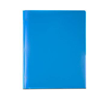 Plastic Portfolio, 1 unit, Blue