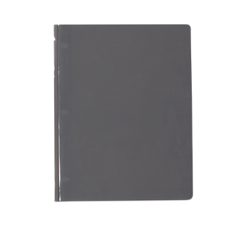 Plastic Portfolio with Pockets, 1 unit, Grey