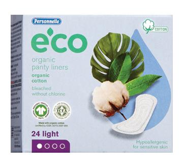 Eco Organic Panty Liners, 24 units, Light