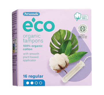 Eco Organic Tampons, 16 units, Regular