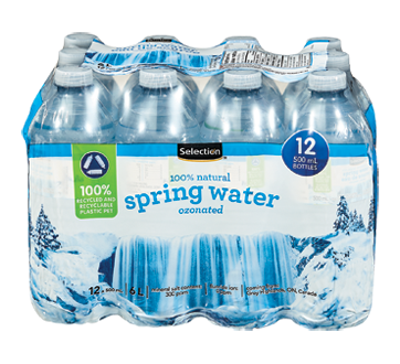 100% Natural Spring Water Ozonated, 12 X 500 ml