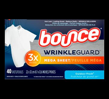 WrinkleGuard Dryer Sheets, 40 units, Outdoor Fresh