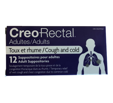 Image of product Creo-Rectal - Suppositories for Adult, 12 units, Cough & Cold