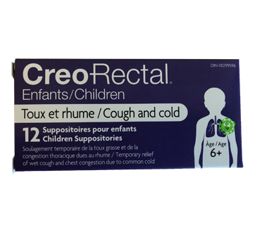 Image of product Creo-Rectal - Suppositories for Children, 12 units, Cough & Cold
