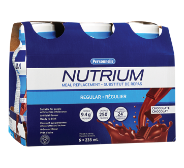 Image of product Personnelle - Nutrium Regular Meal Replacement, 6 x 325 ml, Chocolate