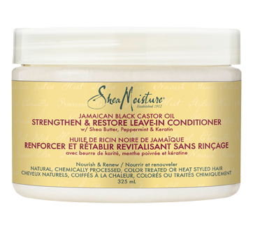 Image of product Shea Moisture - Leave-In Conditioner Strengthen & Restore Jamaican Black Castor Oil, 325 ml