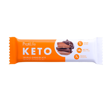 Image of product ProtiLife - Keto Triple Chocolate Snack Bar, 40 g