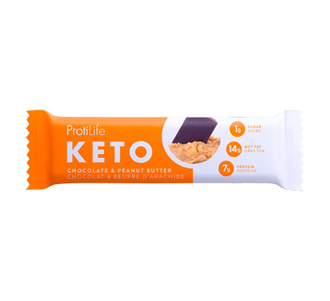 Image of product ProtiLife -  Keto Chocolate and Peanut Butter Snack Bar, 40 g