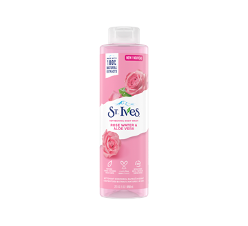 Image of product St. Ives - Body Wash, 650 ml, Rose + Aloe Vera
