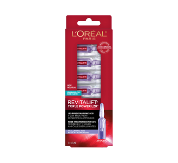 Image 2 of product L'Oréal Paris - Revitalift Triple Power LZR 7-Day Treatment Replumping Ampoules with 1.9% Pure Hyaluronic Acid, 7  x 1.3  ml