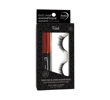 Looky False Eyelashes & Magnetic Liner, 1 unit, Rebel #24