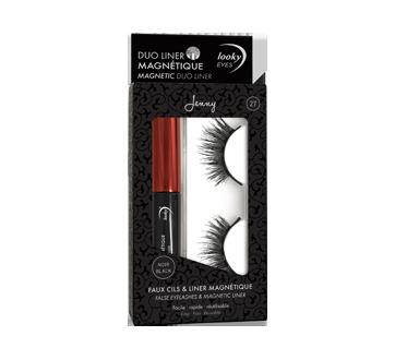False Eyelashes & Magnetic Liner, 1 unit, Jenny #27