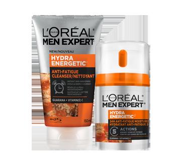 Face Wash + Face Moisturizer Anti-Fatigue 24H Hydra Energetic Skin Care Kit with Guarana + Vitamin C, 2 x 50 ml