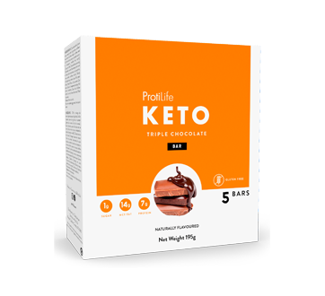 Image of product ProtiLife - Keto Bars, 5 X 40 g, Triple Chocolate