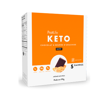 Image 1 of product ProtiLife - Keto Bars, 5 X 40 g, Chocolate and Peanut Butter