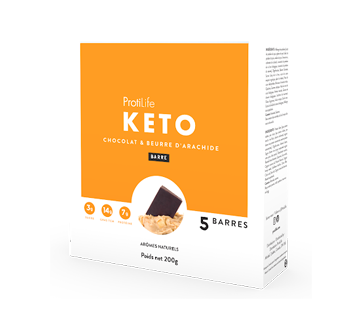 Image 2 of product ProtiLife - Keto Bars, 5 X 40 g, Chocolate and Peanut Butter