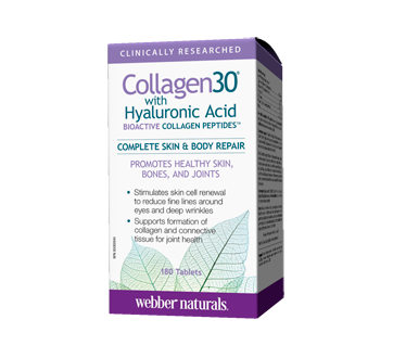 Image of product Webber Naturals - Webber Naturals Collagen30 with Hyaluronic Acid, Tablets, 180 units
