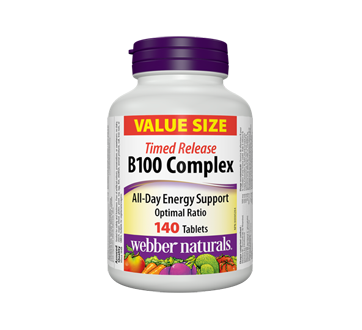 Image of product Webber Naturals - B100 Complex Timed Release Tablets, 140 units