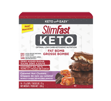 Image of product SlimFast - Keto Fat Bomb, 14 x 17 g, Caramel Nut Clusters