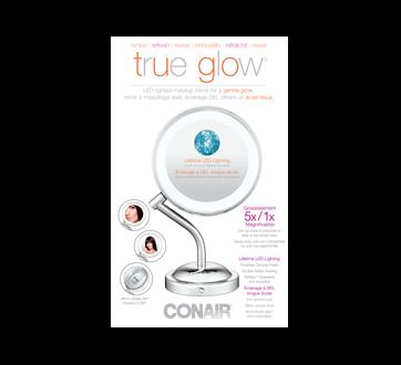 True Glow LED Light Makeup Mirror For a Gentle Glow, 1 unit