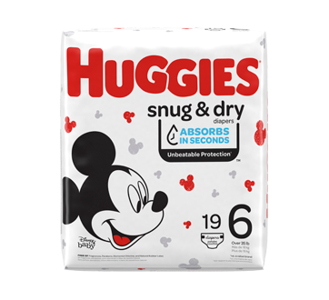 Snug & Dry Diapers, 19 units, Size 6