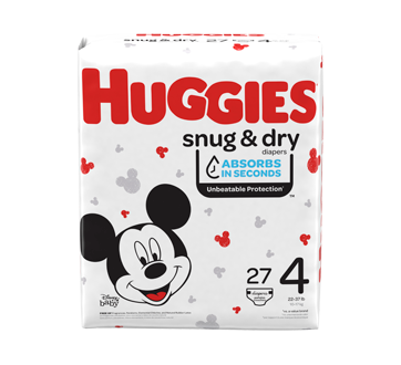 Snug & Dry Diapers, 27 units, Size 4