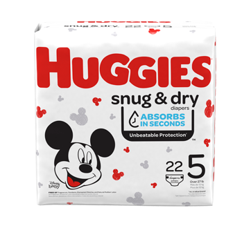 Snug & Dry Diapers, 22 units, Size 5