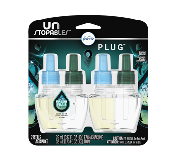 Unstopables Plug Scented Refills, 2 units, Fresh