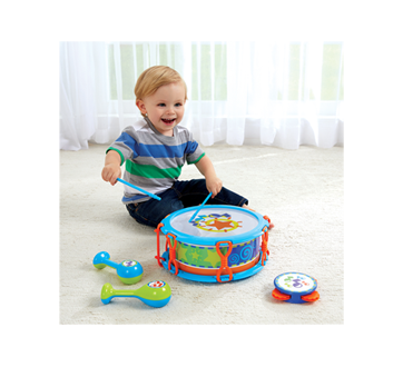 Image 4 of product Kidoozie - My First Drum Set, 1 unit