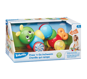Image 2 of product Kidoozie - Press 'n Go Inchworm, 1 unit