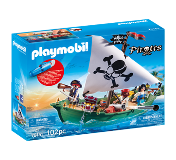 Image of product Playmobil - Pirate Ship with Underwater Motor, 1 unit