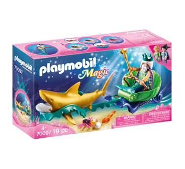 Image of product Playmobil - King of the Sea with Shark Carriage, 1 unit