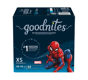 Goodnites Bedwetting Underwear for Boys, 44 units, Extra Small