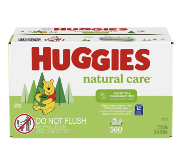 Natural Care Sensitive Baby Wipes, 560 units, Unscented