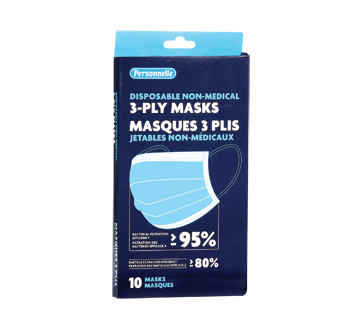 Image of product Personnelle - Disposable Non-Medical 3-Ply Masks, 101 units