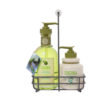 Cucina Lime Zest & Cypress Soap & Cream Duo, 2 units