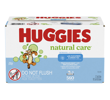 Natural Care Refreshing Baby Wipes, 560 units, Scented