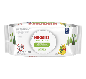 Natural Care Sensitive Baby Wipes, 56 units, Unscented