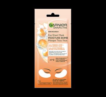 SkinActive Moisture Bomb Brightening Eye Sheet Mask with Orange Juice, 6 g