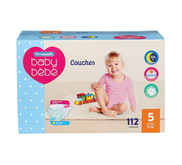 Diapers Giant Size 5 27 lb+, 112 units